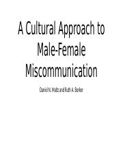 A Cultural Approach to Male-Female Miscommunication.pptx