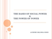 THE BASES OF SOCIAL POWER