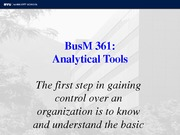 BusM 361 Analytical Tools Fall 11