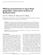Making reconnections in agro-food geography alternative systems of food provision.pdf