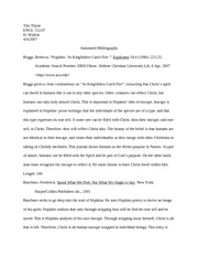 English 11207 - Annotated Bibliography