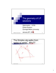 Lecture - Geometry of LP solutions, convex sets