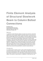 Butterworth_-_Finite_element_analysis_of_Structural_Steelwork_Beam_to_Column_Bolted_Connections