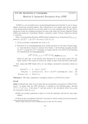 Handout 2: Symmetric Encryption from a PRF