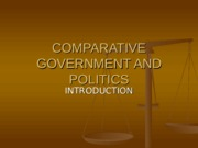 comparative government and politics- introduction - wood