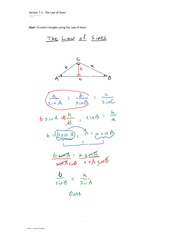 Section 7.1  The Law of Sines
