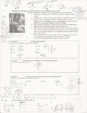 AP Chemistry Lewis Structures Worksheet