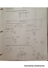 simplifying radical exponents notes