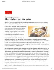 Shareholders at the gates _ The Economist1