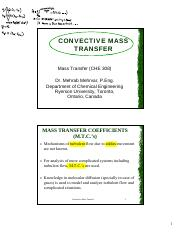 CHE308-Part2-Convective-Mass-Transfer
