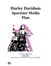 adpr 3120 harley davidson media plan