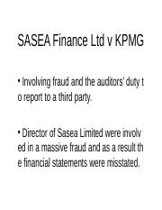 SASEA Finance Ltd v KPMG.ppt