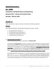 Answer to Introduction to Material Science Assignment - Copy.pdf
