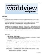 Theories and Worldview Assignment.docx