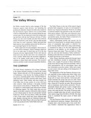 Case Study_Valley Winery