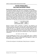 Extra Problem 6 - Solving Decision Trees