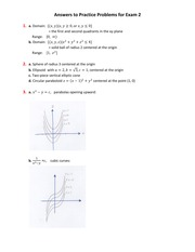 Practice Problems Answers -Exam 2 -Math 2215 -Spring 2011
