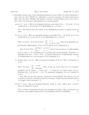 Midterm Exam 1 Solution