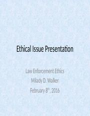 Ethical Issue Presentation