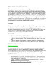HOW TO WRITE A LITERARY ANALYSIS ESSAY Revised April 2015
