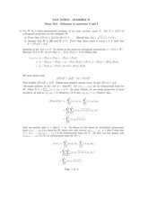 MAT 247H1S - ALGEBRA II Term Test - Solutions to questions 4 and 5