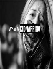 What is Kidnapping