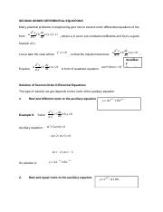 SECOND ORDER DIFFERENTIAL EQUATIONS.docx