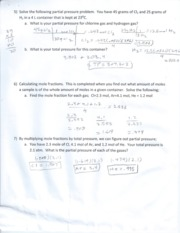 Calculating Prssure Word Problems Notes