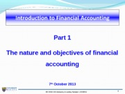 Wk1 1101 - Introduction to Financial Accounting
