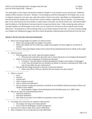 SOC 211 - Exam #2 - Chapter 05 Study Guide