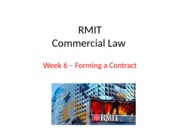 Week 6 - Forming a Contract3