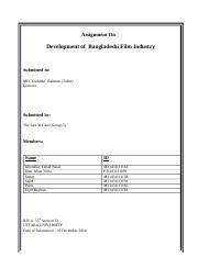 Assinment Development Of Bangladesh film industry.docx