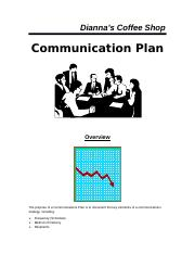 Dianna's coffee shop communication plan (2).docx