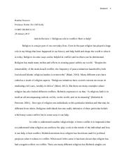 COMS 560-B03 LUO 28 Article Review 1- Religions role in conflict- Hurt or help?