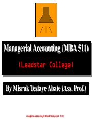 1 Managerial Accounting-Overview