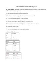French Test Chapter 4