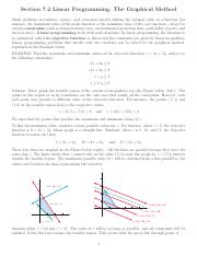 Linear Programming The Graphical Method