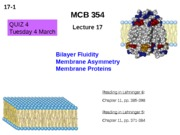 MCB 354 Bilayer Fluidity Lecture