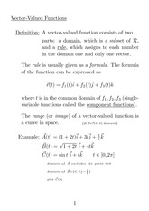 Vector-valued function 2