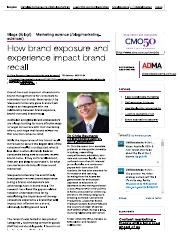 How brand exposure and experience impac...ll - Marketing science - CMO Australia