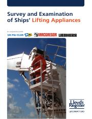 Survey and Examination of Ships' Lifting Appliances_2