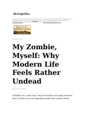 my zombie myself