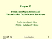 09-Chapter 10 Functional Depenedencies and Normalization.ppt