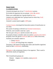 study guide classification and 6 kingdoms answer key study guide rh coursehero com classification study guide biology answers classification of living organisms homework and study guide answers