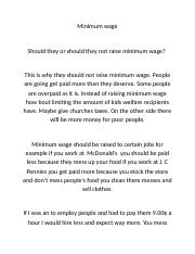 This is why they should not raise minimum wage.docx