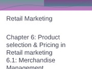 chapter 6 Merchandise Mgt & pricing