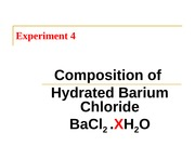 Composition of hydrated barium chloride
