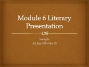 Module 6 Presentation Sample