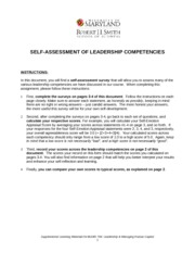 Self-Assessment of Leadership Competencies_BUMO 796