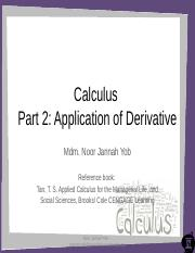2015 Calculus (Differentiation)